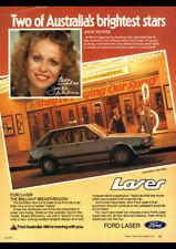 "1981 KA FORD LASER GHIA AD A2 CANVAS PRINT POSTER FRAMED 23.4""x16.5"""