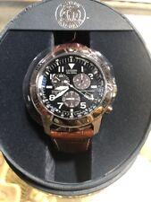 Citizen Military Eco Drive Watch  E820 Perpetual Calendar Chronograph
