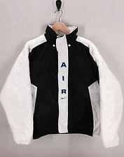 Vtg Nike Air Jacket Coat Insulated~90's Jordan Color Block~Black/White Oreo~Sz L