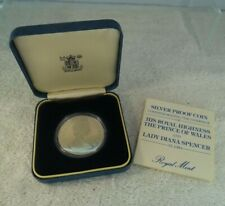 Charles & Diana 1981 Cased Proof Royal Mint Solid Silver Coin with COA