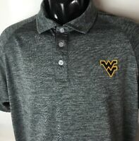 Chiliwear West Virginia Polo Shirt Mountaineers Sz M NCAA Classic Logo Sewn Golf