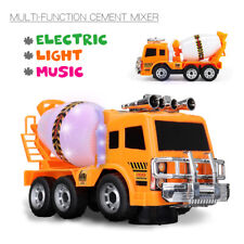 Electric Cement Mixer Music Toy Car Engineering Vehicle w/ LED Light Kid Gift