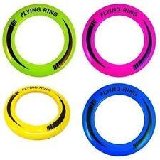 """10"""" Neon Flying Ring Disc Frisbee Flyer Adult Kids Family Dog Outdoor Toy 25cm"""