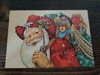 VTG Leanin Tree 10 Fine Art Christmas Cards Western  Santa   1992 Donna Race