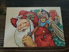 Vtg Leanin Tree 10 Fine Art Christmas Cards Western Santa 1992 Donna Race