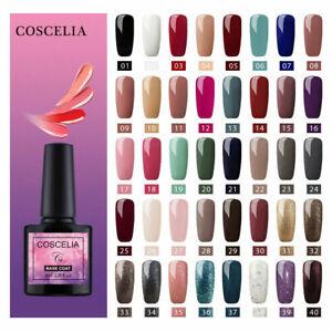 Coscelia 8ml Nail Gel Nail Polish Soak Off UV LED Glitter Varnish 40 Color Gel