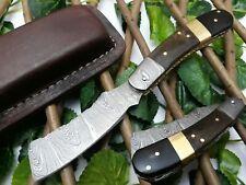 LOUIS SALVATION RARE CUSTOM HANDMADE DAMASCUS ART HUNTING FOLDING POCKET KNIFE