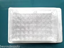 Lab Clear Plastic Rectangle Shape 48 Compartments Cell Culture Plate new