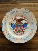 Vintage USA 200th Anniversary 1776-1976 Bicentennial Collectors Calendar Plate
