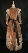 Antique Dress 1870 Brown Velvet Dressing Gown,1 Piece Trained Museum Deaccession