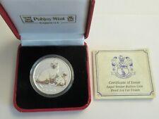 2007 Isle of Man Cat Crown, Ragdoll Cat w/ kittens, 1 oz Silver round .999 fine,