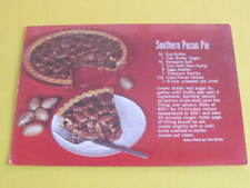 Southern Pecan Pie Recipe US Postcard
