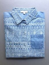 NEW! Ella Moss Chambray Print Shirt, Size: M, Orig. $178.00
