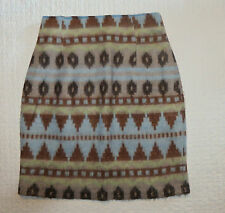 Mini Jupe crayon * motif azteque * Taille 36 * hiver