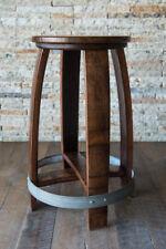 Wine Barrel Counter Stool by Alpine Wine Design, Red Mahogany Burgundy Oak