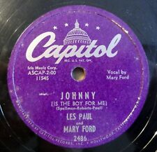 "Les Paul - Mary Ford - Johnny - Vaya Con... - Capitol - /10"" 78 RPM"
