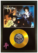 More details for prince signed photo and 'purple rain' gold cd collectable memorabilia gift bike
