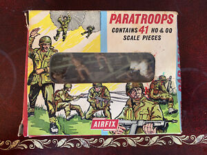 Airfix Rare Early Paratroops Box In Good Condition
