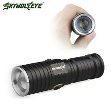 T6 LED Flashlight Torch CR123A Battery 3 Modes Compact Zoomable Outdoor A11