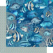 "Graphic 45 Ocean Blue - CAPRI - 12x12"" D/sided Scrapbooking Paper"