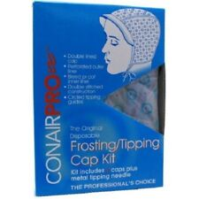 Conair PRO Frosting Tipping Cap Double Lining 4 ea per pack, Needle Included