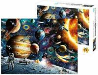 ARKIM Space Puzzle 1000 Piece Jigsaw Puzzle Kids Adult, Planets in Space Jigsaw