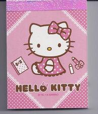 Sanrio Hello Kitty Mini Notepad Pink
