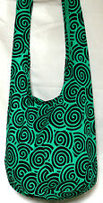 SAC BANDOULIERE ETHNIQUE MAIN BABA COOL BESACE SHOULDER BAG ETHNIC VERT GREEN