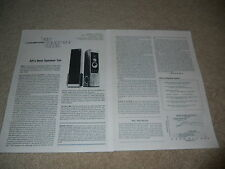 AR-9 Speaker Review, 2 pg, 1978, Rare Info, Specs, Acoustic Research