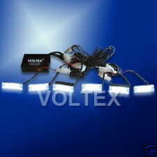 6 NEW 1W VOLTEX CLEAR EMS TOW LED LIGHTBAR GRILL LIGHT BAR