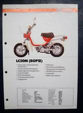 YAMAHA LC50M (BOP II) - Motorcycle Sales & Specification Sheet - 1981-1982