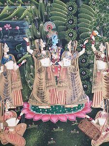 THAI Royalty Art Thailand Artwork Tanjore Painting Thangka India Gold Gilt Hindi