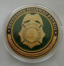 Tennessee  Highway Patrol    24K GOLD  PLATED 40 mm  Challenge  COIN