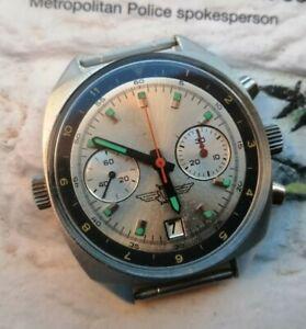 Vintage Poljot Sturmanskie Watch Chronograph Military Mechanical Cal. 3133