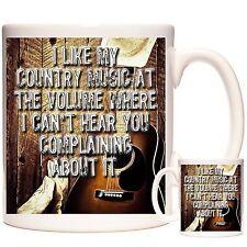 Taza de Regalo de música country que empareja país Montaña Y Llavero disponible C&W Regalo
