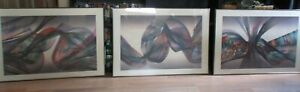 "set of 3 prints by Michael John March Signed & Titled ""Tide"" prints gd cd framed"