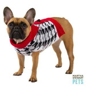 Martha Stewart Pets® HOUNDSTOOTH BARN Dog Sweater Soft Warm Large
