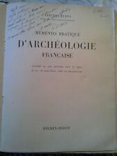 Memento pratique d'archéologie française, FLIPO, Firmin-Didot 1930