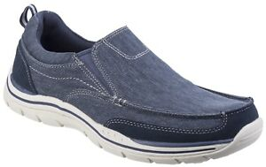 Skechers Expected Tomen Slip On Shoes Mens Casual Memory Foam Textile Loafers