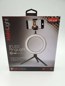 """New ON AIR Halo Light 8"""" LED Ring Light  PODCAST Series"""