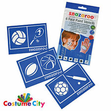 Snazaroo Face Paint Party Make Up Reusable Sports Face Painting Stencils Pack