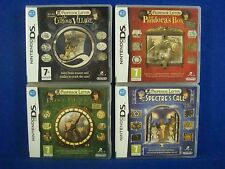 ds PROFESSOR LAYTON X4 Games Curious Village Pandora Lost Future Specter's Call