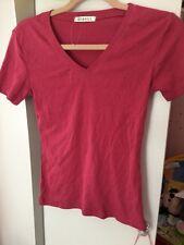 Women's T-shirt Maroon Size 8 Eu 36