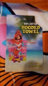 "Kids Funny Fish Hooded Beach Towel Cartoons 24"" x 48"" NWT Children's 100% Cotton"