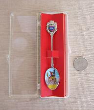 Vintage Wyoming State Souvenir Enamel Spoon Klepa Arts orig box
