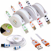 3/6/9FT Retractable Micro USB Data Sync Charger Cable For LG Samsung S4 Android