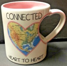"""Mug With Heart Shape Handle Our Name is Mud """"Connected Heart"""""""