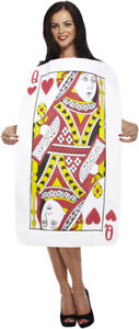 Brand New Ladies Queen Of Hearts Adults Playing Cards Fancy Dress