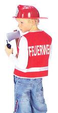 Feuerwehr Kostüm für Jungen rot Feuerwehrmann Uniform Weste Karneval Fasching