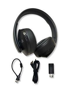 Sony Wireless Headset 7.1 Gold Edition Playstation 4 PS4 Gaming Schwarz USB